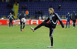 FC Metalist Kharkiv -贝尔04莱沃库森 库存照片