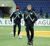 FC Metalist Kharkiv -贝尔04莱沃库森 库存图片