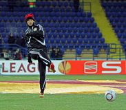 FC Metalist Kharkiv -贝尔04莱沃库森 免版税库存照片