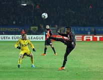 FC Metalist Kharkiv - Bayer 04 Leverkusen Royalty Free Stock Photography