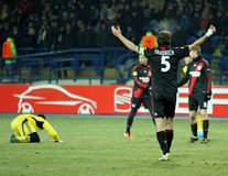 FC Metalist Kharkiv - Bayer 04 Leverkusen Foto de Stock