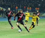 FC Metalist Kharkiv - Bayer 04 Leverkusen Fotos de Stock Royalty Free