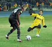 FC Metalist Kharkiv - Bayer 04 Leverkusen Imagens de Stock Royalty Free