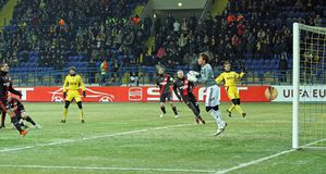FC Metalist Kharkiv - Bayer 04 Leverkusen Foto de Stock Royalty Free