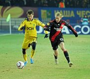 FC Metalist Kharkiv - Bayer 04 Leverkusen Royalty Free Stock Photography