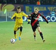 FC Metalist Kharkiv - Bayer 04 Leverkusen Lizenzfreie Stockfotografie