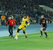 FC Metalist Kharkiv - Bayer 04 Leverkusen Fotografia de Stock Royalty Free