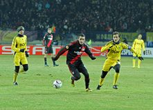FC Metalist Kharkiv - Bayer 04 Leverkusen Lizenzfreies Stockfoto