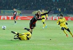FC Metalist Kharkiv - Bayer 04 Leverkusen Imagem de Stock