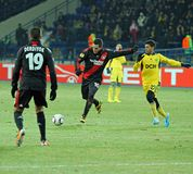 FC Metalist Kharkiv - Bayer 04 Leverkusen Royalty Free Stock Photos