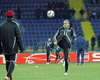 FC Metalist Kharkiv - Bayer 04 Leverkusen Royaltyfri Fotografi