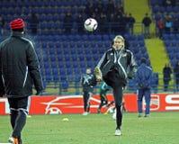 FC Metalist Kharkiv - Bayer 04 Leverkusen Fotografia Stock Libera da Diritti