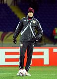 FC Metalist Kharkiv - Bayer 04 Leverkusen Fotografie Stock Libere da Diritti