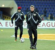 FC Metalist Kharkiv - Bayer 04 Leverkusen Images stock