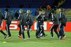 FC Metalist Kharkiv - Bayer 04 Leverkusen Photo stock