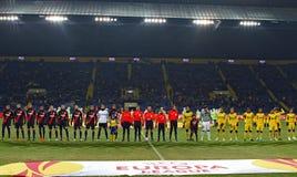 FC Metalist Kharkiv - Bayer 04 Leverkusen lizenzfreie stockfotos
