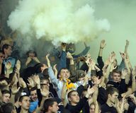 FC Metalist Kharkiv fans Royalty Free Stock Photography