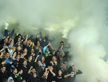 FC Metalist Kharkiv fans Royalty Free Stock Photos