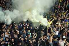 FC Metalist Kharkiv fans Stock Images