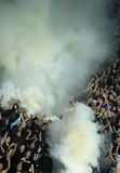 FC Metalist Kharkiv fans Royalty Free Stock Photo