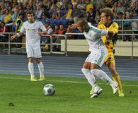 FC Metalist Kharkiv vs AC Omonia Nicosia match Royalty Free Stock Image