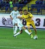 FC Metalist Kharkiv vs AC Omonia Nicosia match Stock Image
