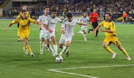 FC Metalist Kharkiv vs AC Omonia Nicosia match Royalty Free Stock Photo
