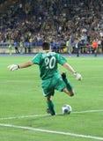 FC Metalist Kharkiv vs AC Omonia Nicosia match Stock Photo