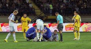 FC Metalist Kharkiv vs. FC Dynamo Kyiv Stock Photo
