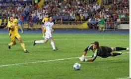 FC Metalist Kharkiv vs. FC Dynamo Kyiv Royalty Free Stock Images