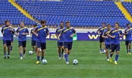 FC Metalist open training Stock Photography