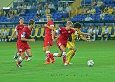 FC Metalist vs FC Illichivets soccer match Stock Image