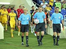 FC Metalist vs FC Illichivets soccer match Stock Images