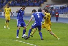 FC Metalist vs FC Ilyichevets (3:1) soccer match Stock Image