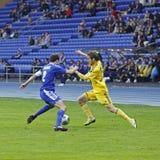 FC Metalist vs FC Ilyichevets (3:1) soccer match Royalty Free Stock Photos