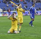 FC Metalist vs FC Ilyichevets (3:1) soccer match Royalty Free Stock Photography
