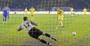 FC Metalist vs FC Ilyichevets (3:1) soccer match Royalty Free Stock Photo