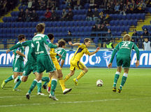 FC Metalist vs FC Obolon Kyiv football match Stock Photo