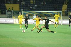 FC Metalist vs PFC Oleksandria football match Royalty Free Stock Images