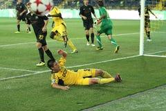 FC Metalist vs PFC Oleksandria football match Royalty Free Stock Photography