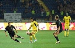 FC Metalist vs PFC Oleksandria football match Stock Images