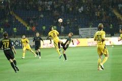 FC Metalist vs PFC Oleksandria football match Royalty Free Stock Image