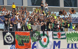 FC Obolon supporters Stock Image