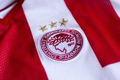 FC Olympiacos emblem. Greek football club Olympiacos Piraeus emblem Stock Images