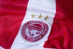 FC Olympiacos emblem. Greek football club Olympiacos Piraeus emblem Stock Photos