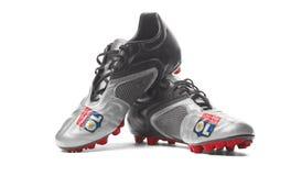 FC Olympique Lyonnais - ботинки футбола Стоковая Фотография