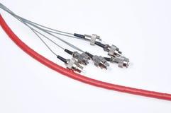 Fc optique de cordes de correction de fibre de télécommunication Images stock