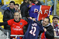 FC Paris Saint-Germain team supporters Stock Images