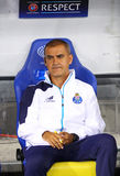 FC Porto coach Rui Gil Soares Barros. KYIV, UKRAINE - SEPTEMBER 16, 2015: FC Porto coach Rui Gil Soares Barros looks on during UEFA Champions League game against Royalty Free Stock Photo