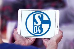 FC Schalke 04 λογότυπο λεσχών ποδοσφαίρου Στοκ Εικόνες